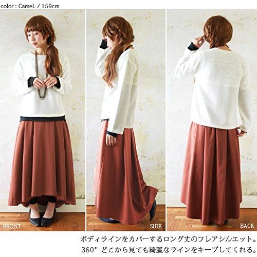 フレアスカートのように裾に広がりがある形がおすすめです。