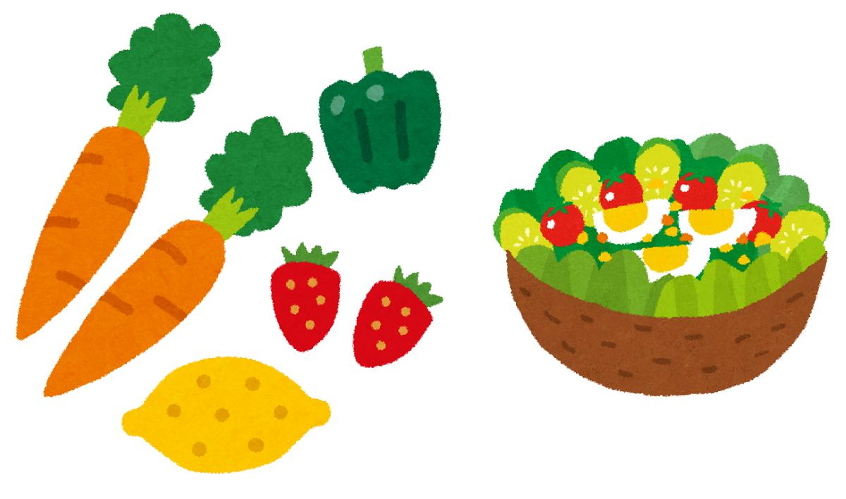 生野菜は多くのビタミンを含み、体力の回復にとても役立ちます。