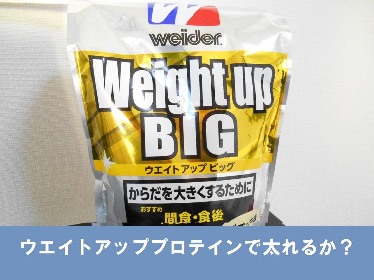 ウエイトアッププロテインで太れるか?